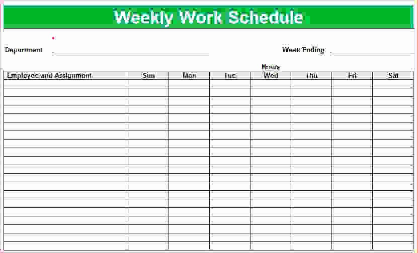 Employee Weekly Schedule Template Beautiful 7 Weekly Employee Schedule Template