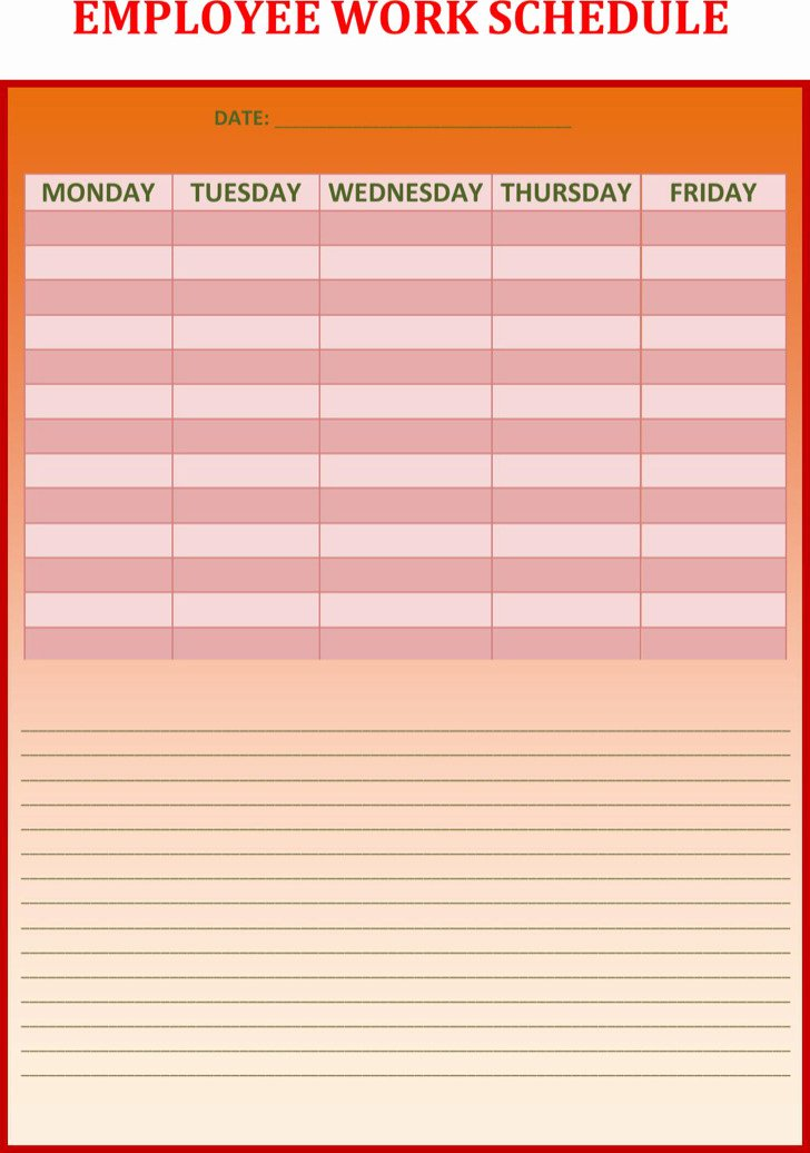 Employee Weekly Schedule Template Best Of Download Weekly Work Schedule Templates for Free