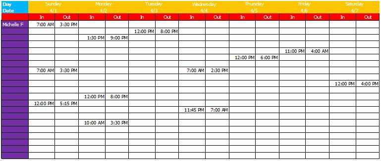 Employee Weekly Work Schedule Template Best Of Work Schedule Template Basic Sheets for Excel