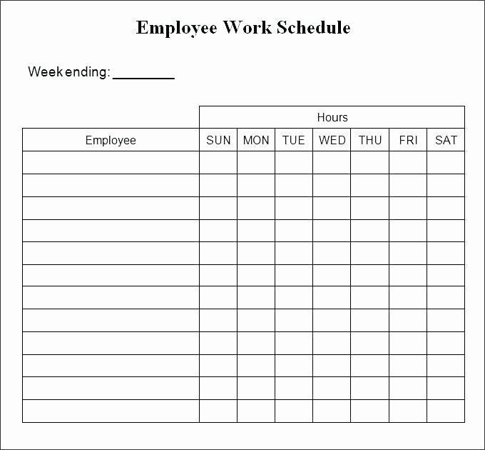 Employee Weekly Work Schedule Template Elegant Excel Weekly Schedule Template Monthly Employee Work Shift