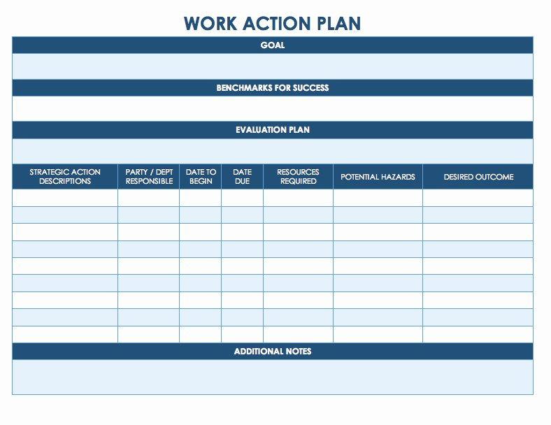 Employee Work Plan Template Inspirational Job Planner Template