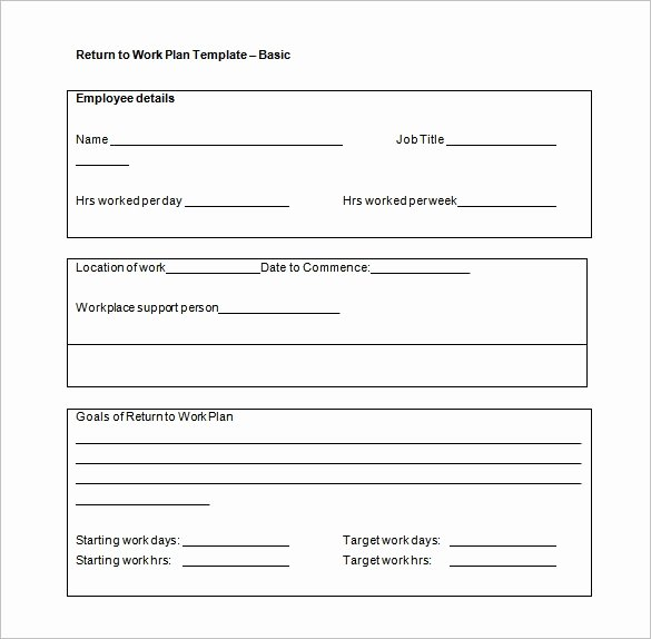 Employee Work Plan Template Lovely Work Plan Template 15 Free Word Pdf Documents Download