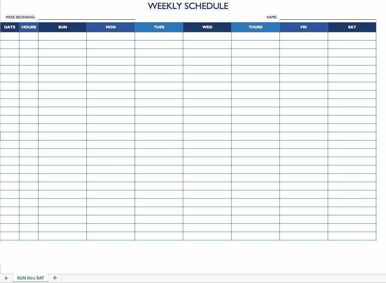 Employee Work Schedule Template Beautiful Free Work Schedule Templates for Word and Excel
