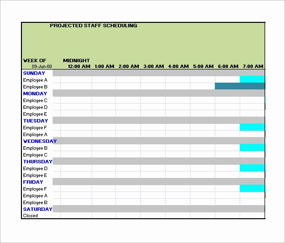 Employee Work Schedule Template Lovely Employee Work Schedule Template 16 Free Word Excel
