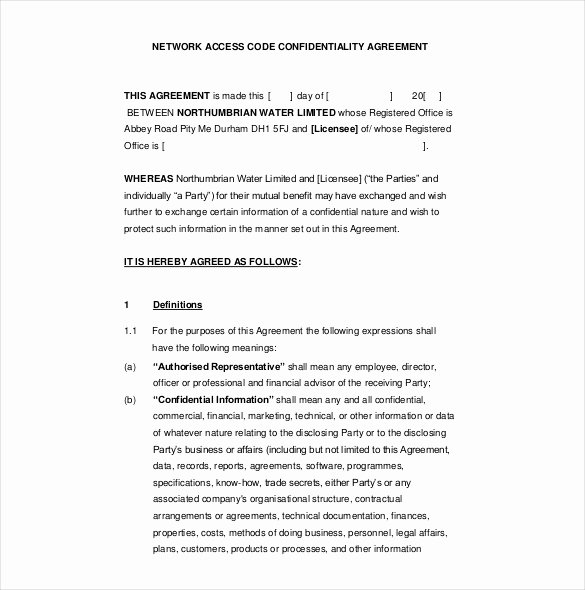 Employment Confidentiality Agreement Template Awesome Fice Sharing Agreement