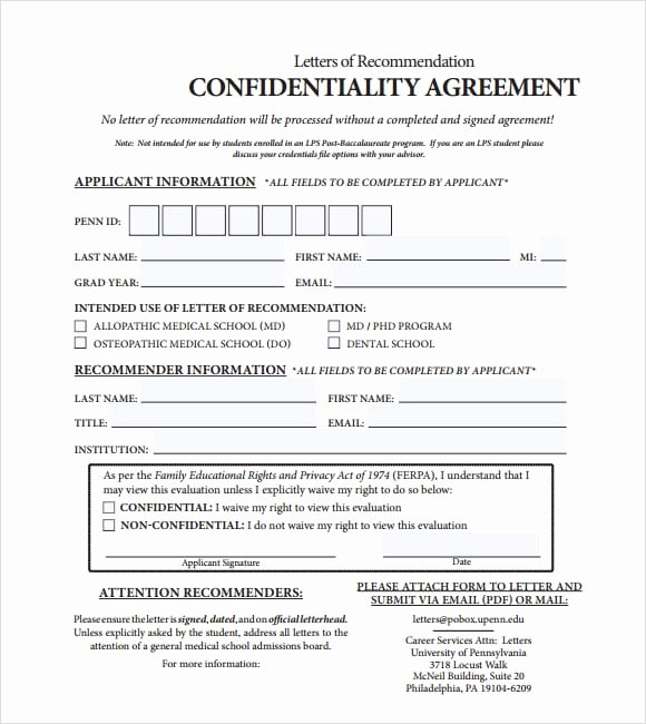 Employment Confidentiality Agreement Template Fresh Employment Confidentiality Agreement Template 9 Human