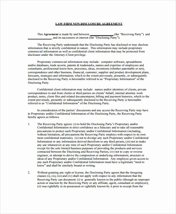 Employment Confidentiality Agreement Template Inspirational 10 Sample Employment Confidentiality Agreements Word Pdf