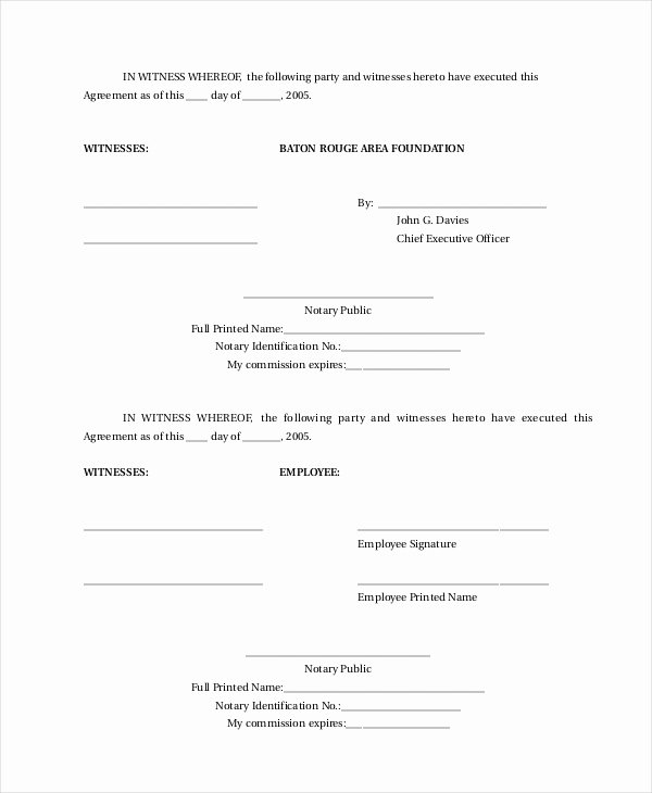 Employment Confidentiality Agreement Template Lovely Sample Employment Contract forms 11 Free Documents In