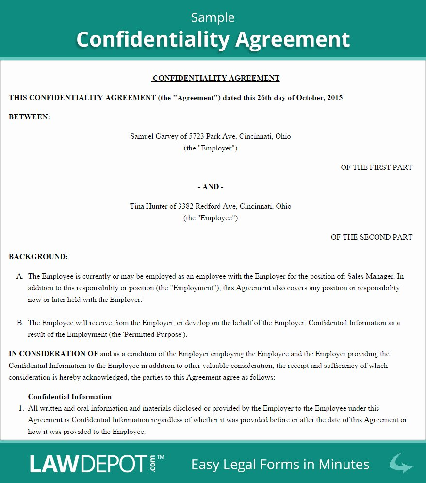 employee confidentiality agreement template australia