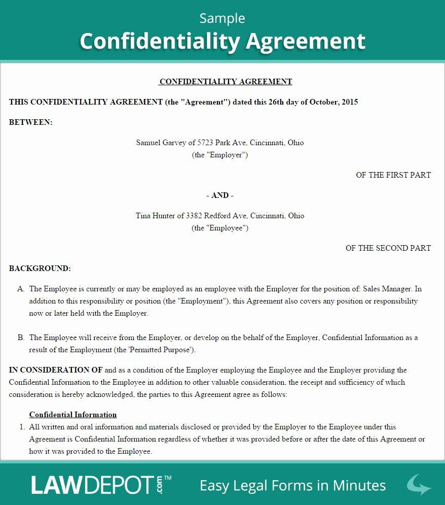 Employment Confidentiality Agreement Template Luxury Employee Confidentiality Agreement Template Australia