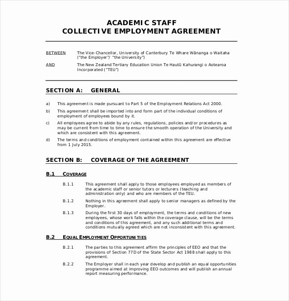 Employment Contract Template Word Elegant 21 Employment Agreement Templates – Free Word Pdf format
