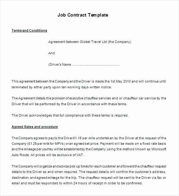 Employment Contract Template Word Elegant Marketing Agency Contract Template Unique Agreement