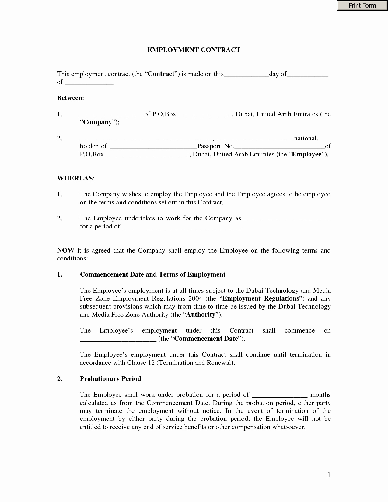 Employment Contract Template Word Unique Employment Contract Template Word Portablegasgrillweber