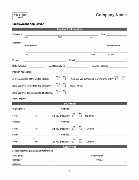 Employment Information form Template Best Of Employment Application Online