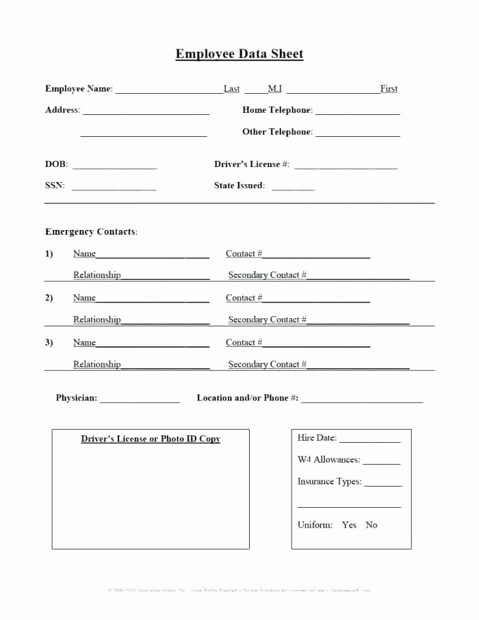 Employment Information form Template Elegant Employee Information form Template – Psychicnights