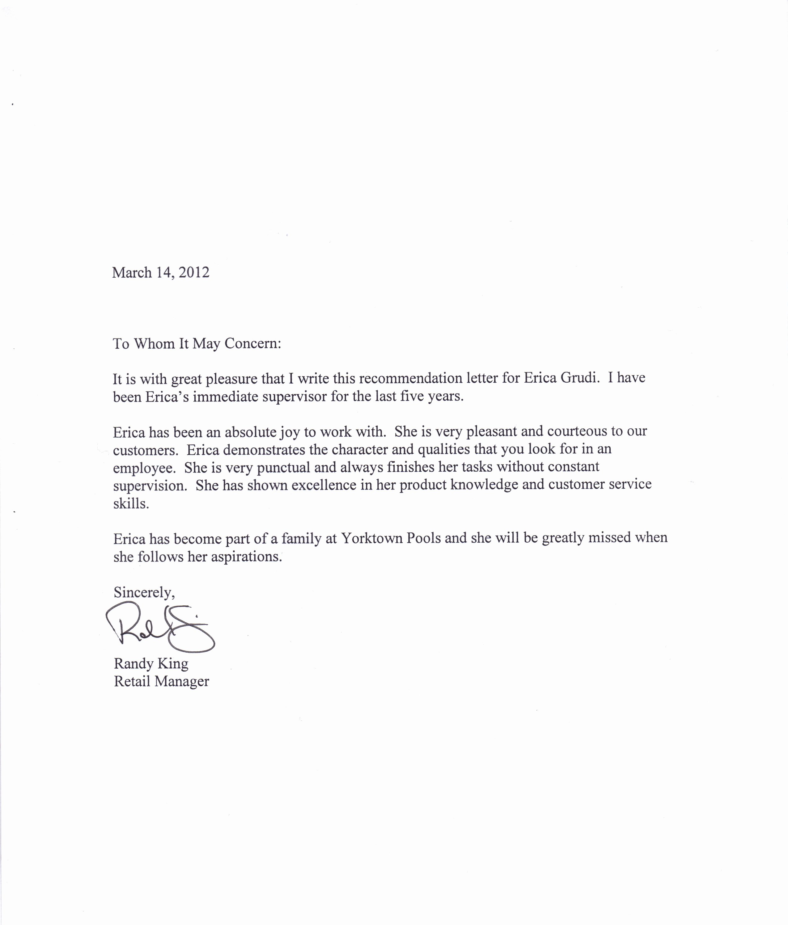 Employment Letter Of Recommendation Template Elegant Free Re Mendation Letter Download