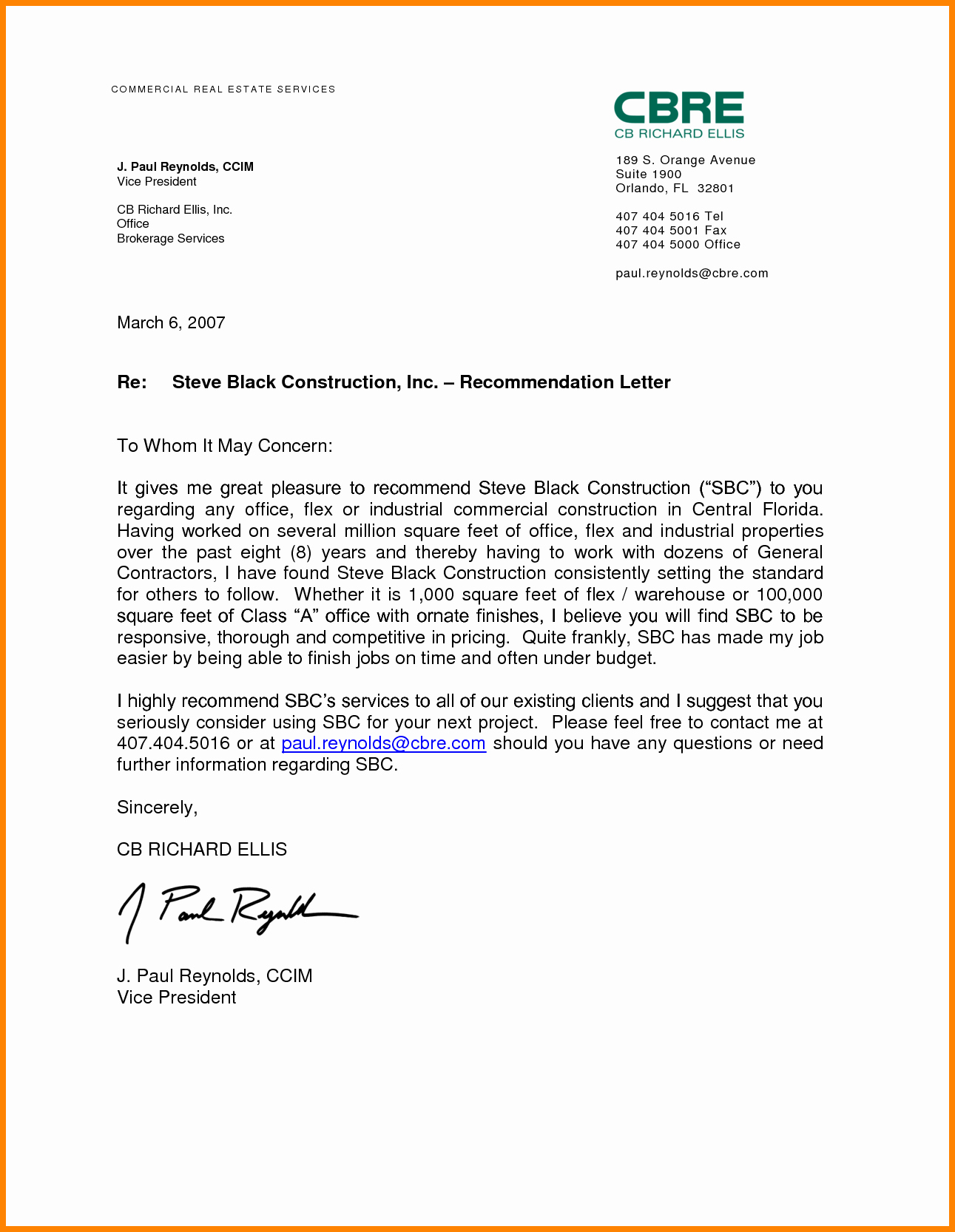 Employment Letter Of Recommendation Template Fresh 10 Job Re Mendation Letter for Student