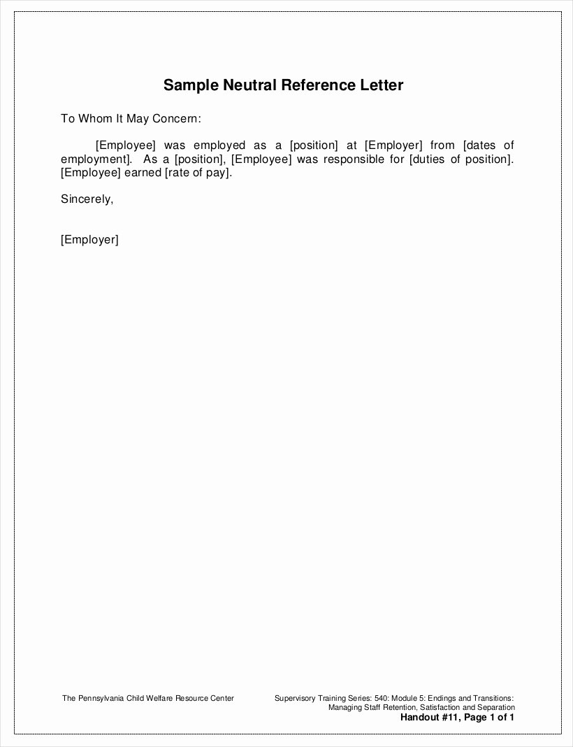 Employment Letter Of Recommendation Template Fresh 9 Employee Reference Letter Examples & Samples In Pdf