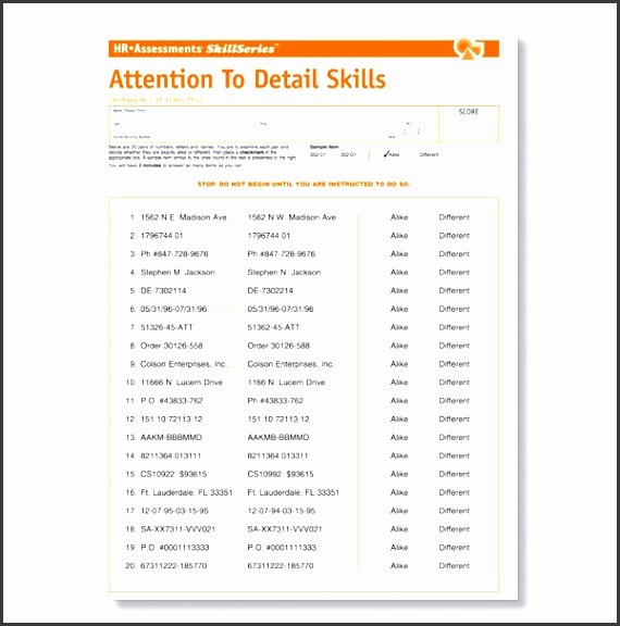Employment Skills assessment Template Beautiful 7 Employee Skills assessment Template Sampletemplatess