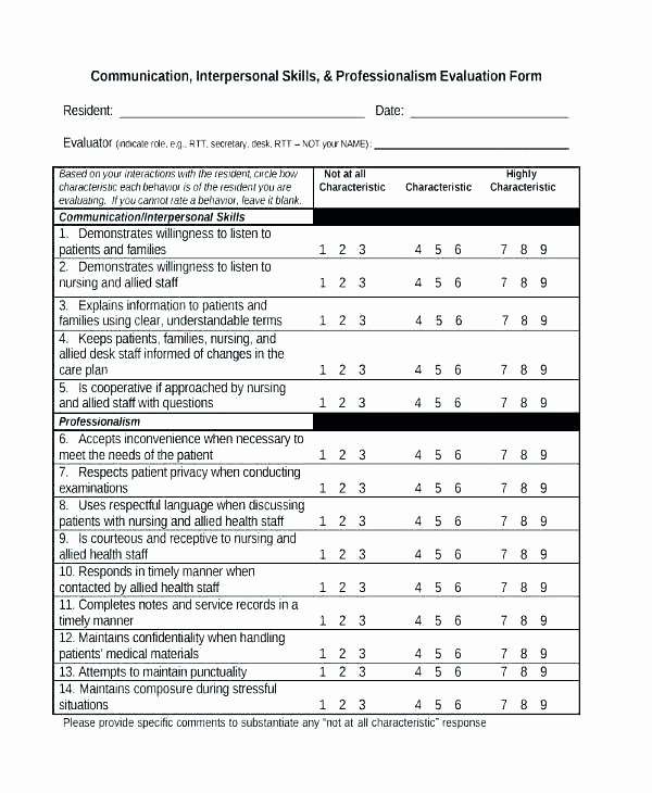 Employment Skills assessment Template Luxury Employment Skills assessment Template Free Excel Matrix