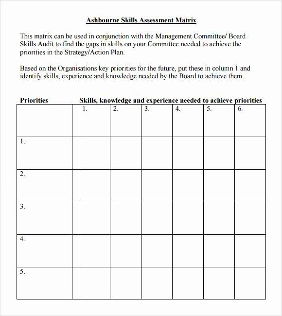 Employment Skills assessment Template New 8 Sample Skills assessment Templates to Download for Free