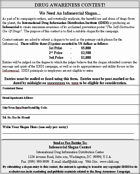 Entry form Template Word Elegant Contest Entry form Sample Contest Entry form Template