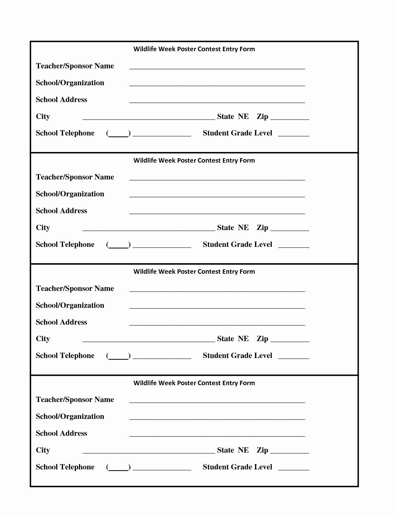 Entry form Template Word Inspirational 6 Best Of Drawing Entry forms Printable Blank