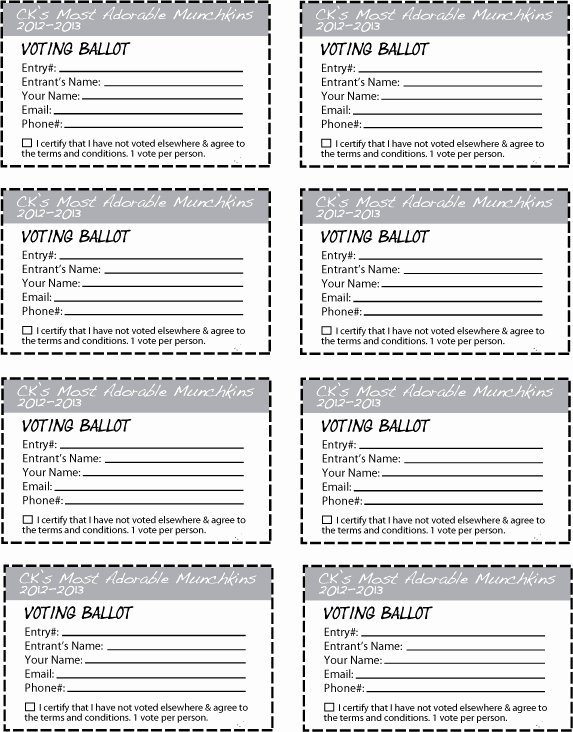 Entry form Template Word Luxury Ck S Most Adorable Munchkins Contest 2012 2013