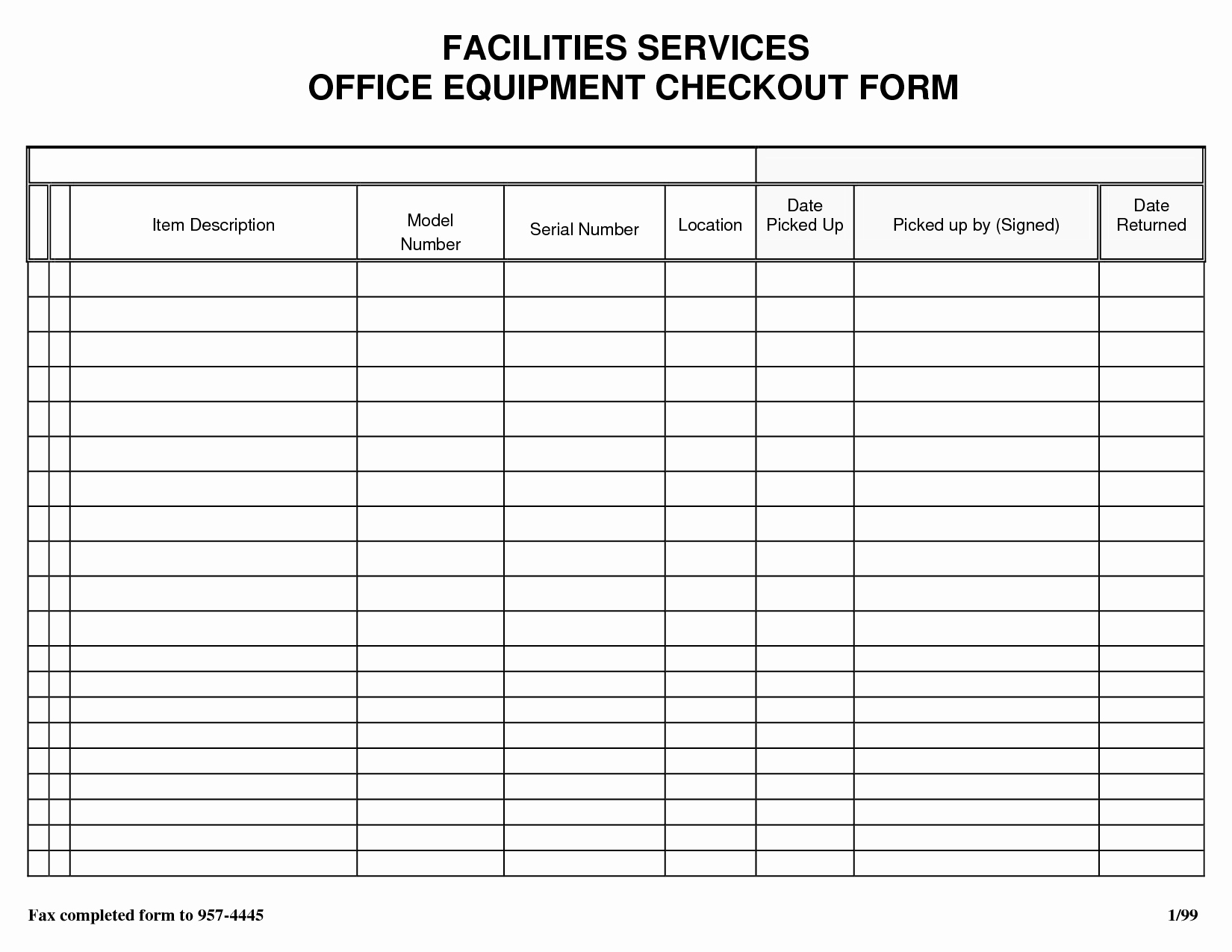Equipment Checkout form Template Beautiful Best S Of Equipment Check Out Sheet Template