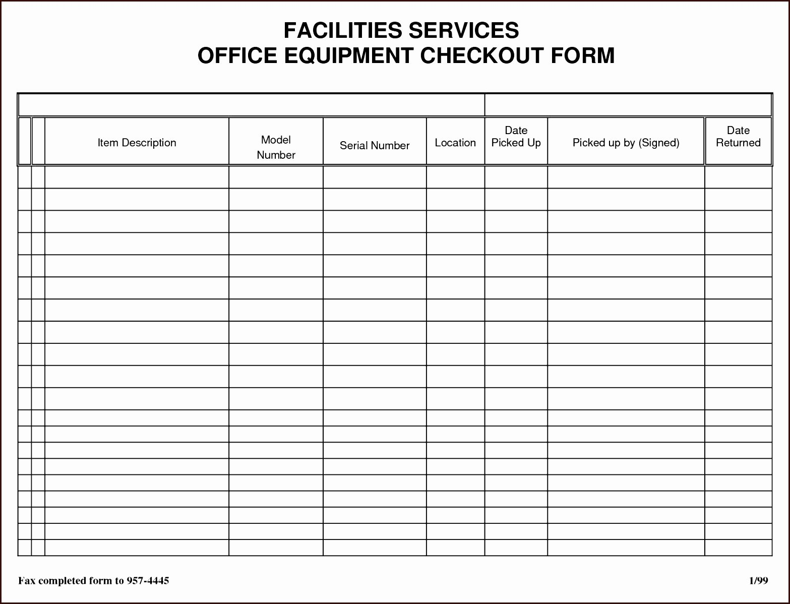 Equipment Checkout form Template Fresh 11 12 Sign Out Sheet for Classroom
