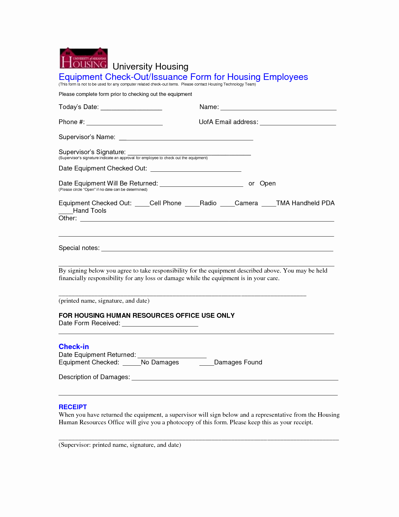 Equipment Checkout form Template Fresh Best S Of Employee Equipment form Template Employee