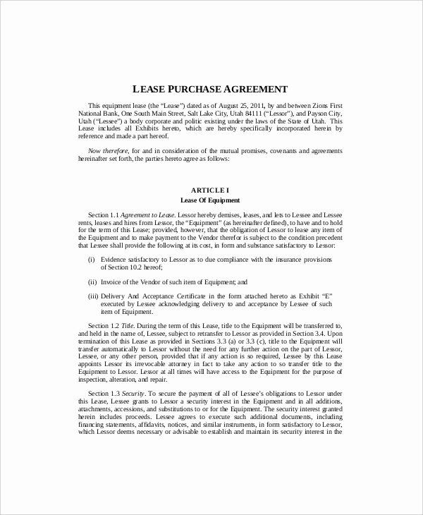 Equipment Lease Agreement Template New Equipment Lease Template 10 Free Word Pdf Google
