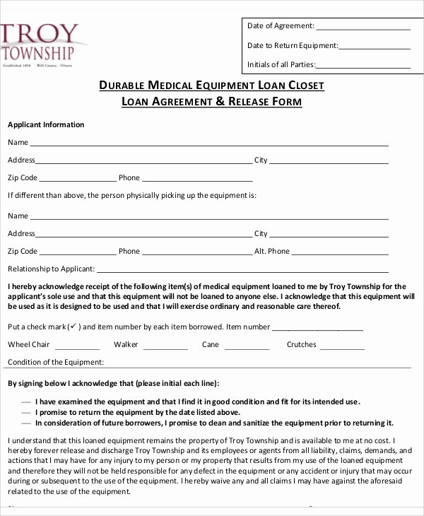 Equipment Loan Agreement Template Awesome 25 Loan Agreement Templates