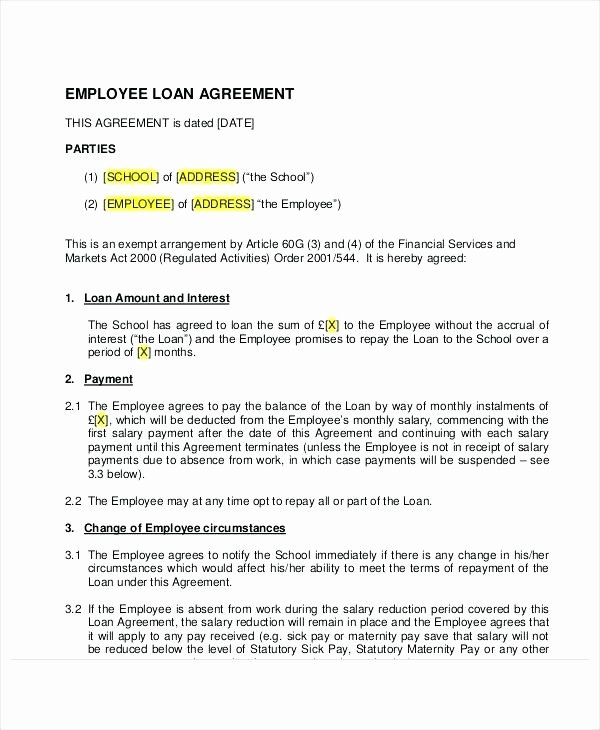 Equipment Loan Agreement Template Best Of Agreement Loan Uk Personal Pdf Template Free Word Document