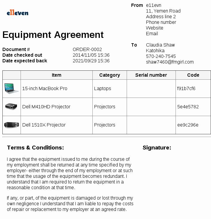 Equipment Loan Agreement Template Best Of Equipment Loan Agreement