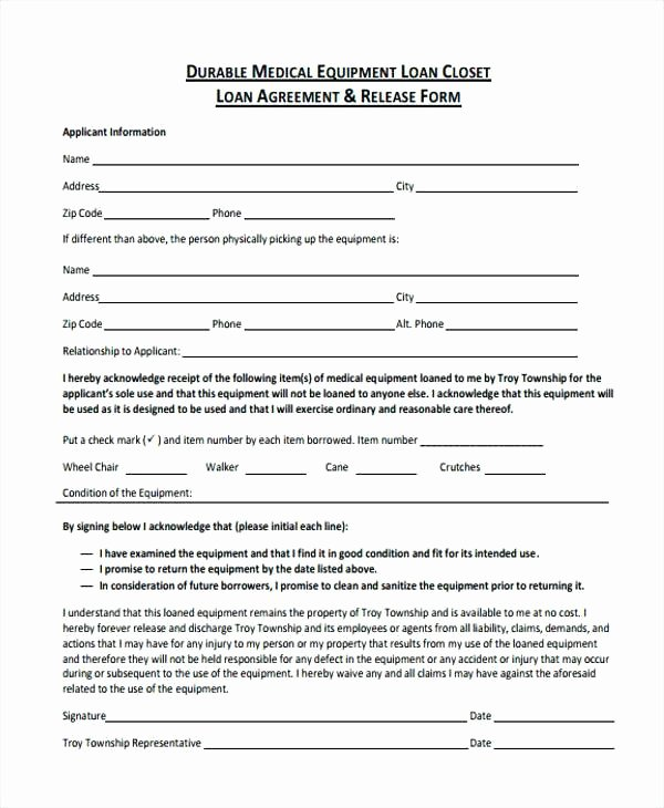 Equipment Loan Agreement Template Elegant Legal Loan Agreement form Free Printable Will forms