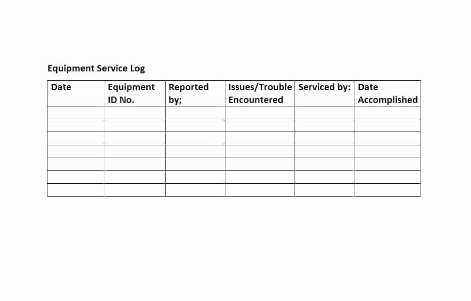 Equipment Maintenance Log Template Beautiful 40 Equipment Maintenance Log Templates Template Archive