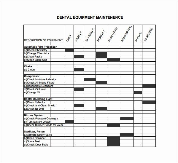 Equipment Maintenance Schedule Template Excel Best Of Equipment Maintenance Schedule Template Excel