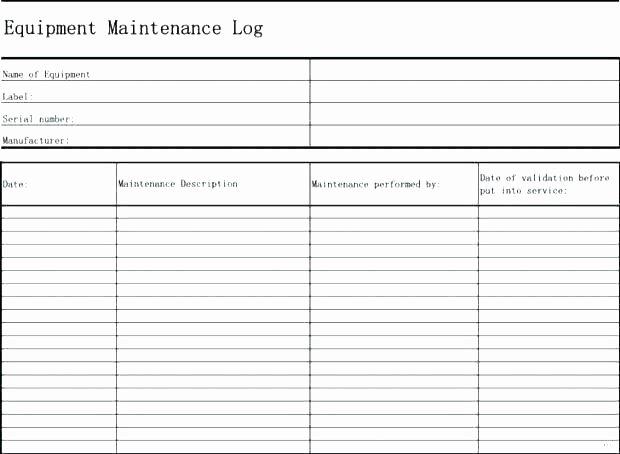 Equipment Maintenance Schedule Template Excel Elegant Preventive Maintenance Template Excel if You Desire to