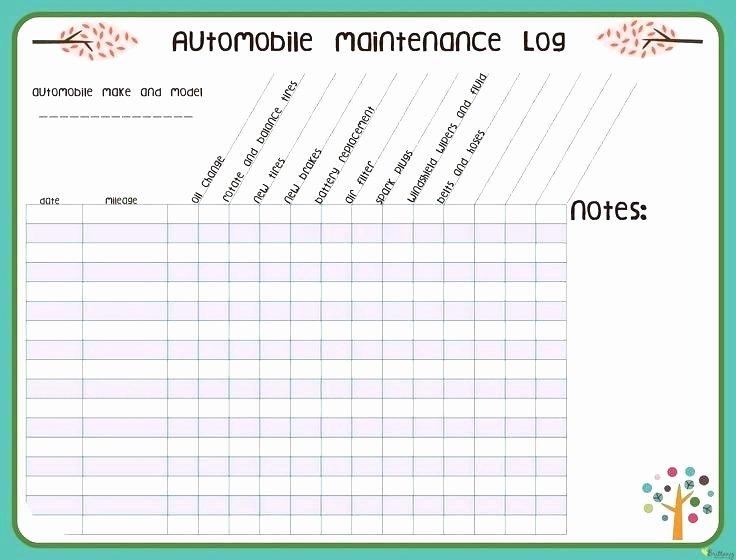 Equipment Maintenance Schedule Template Excel Lovely Printable Puter Maintenance Schedule Template Excel
