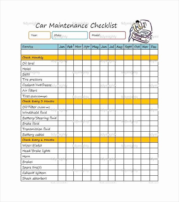 Equipment Preventive Maintenance Checklist Template Fresh 27 Maintenance Checklist Templates Pdf Doc