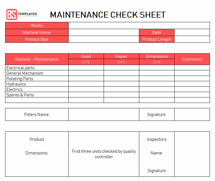 Equipment Preventive Maintenance Checklist Template Fresh Electric Motor Maintenance Checklist Impremedia
