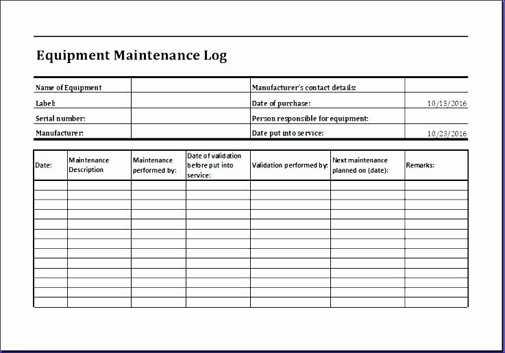 Equipment Preventive Maintenance Checklist Template Fresh Equipment Maintenance Checklist Template – asctech