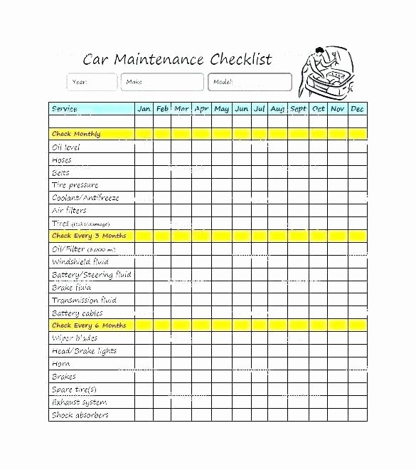 Equipment Preventive Maintenance Checklist Template Unique Preventive Maintenance Checklist Template Equipment form