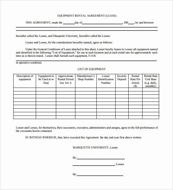 Equipment Rental Agreement Template New 13 Rental Termination Letter Templates Free Sample