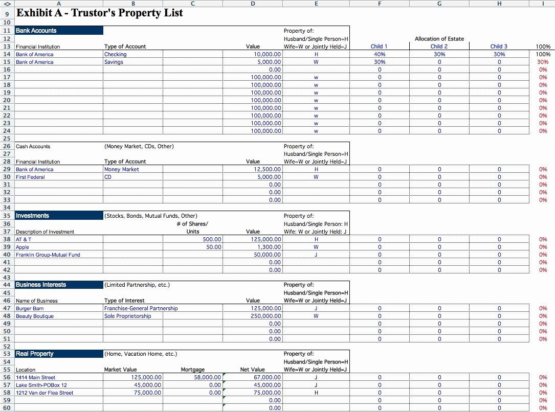 Estate Planning Template Excel Elegant Succession Planning Template