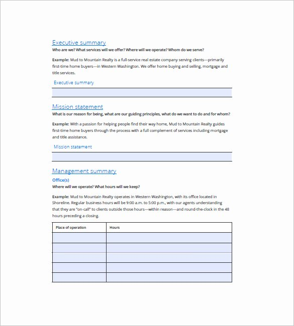 Estate Planning Template Excel Fresh Real Estate Business Plan Template – 13 Free Word Excel