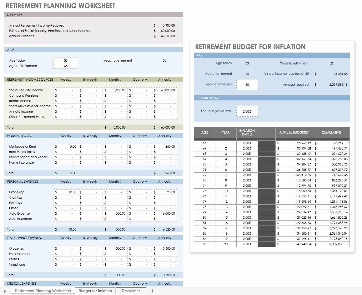estate planning spreadsheet