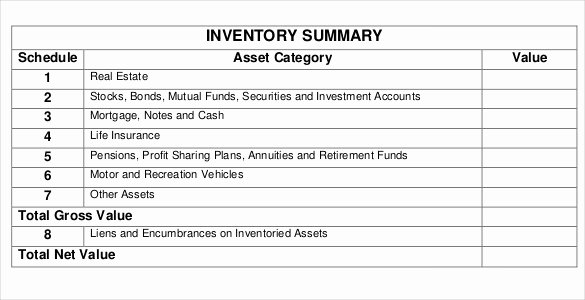 Estate Planning Template Excel New Estate Inventory Template – 12 Free Word Excel Pdf