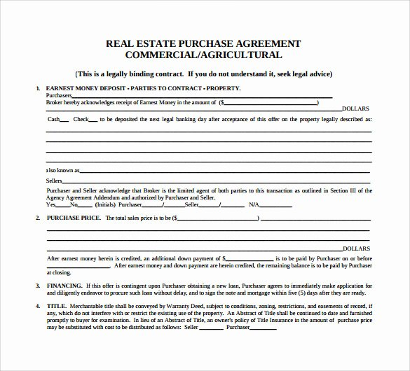 Estate Sale Contract Template Awesome 7 Sample Home Purchase Agreements